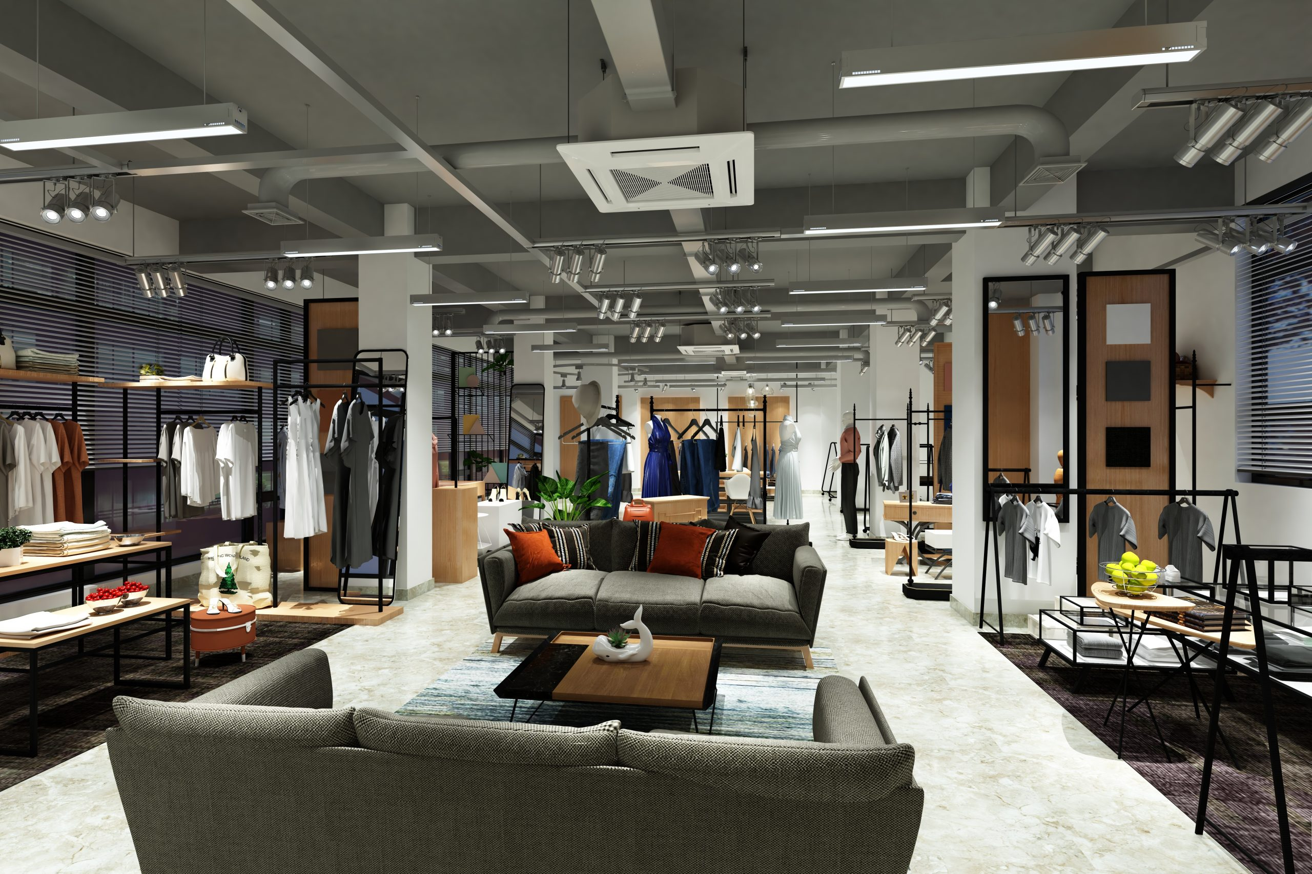 3d render of luxury boutique