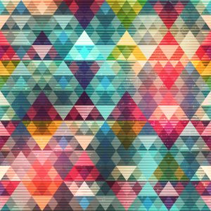 Colored triangle seamless pattern (vector eps 10)